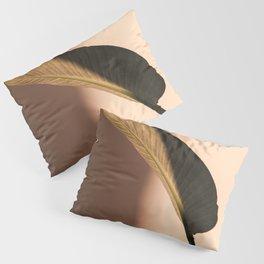 Tropical Palm Leaf Shadow Pillow Sham
