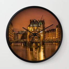 Nightscape Canal Wall Clock