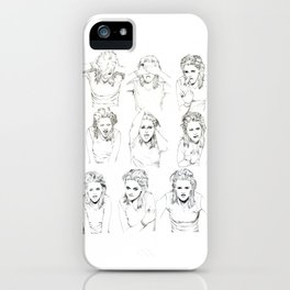 Kristen Stewart Sketches iPhone Case