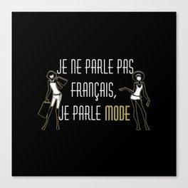 Je ne parle pas français Canvas Print