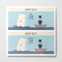 Moby Metal Print