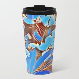 Painted Forget Me Nots Travel Mug