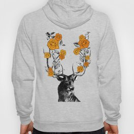The Stag and Roses | Orange Hoody