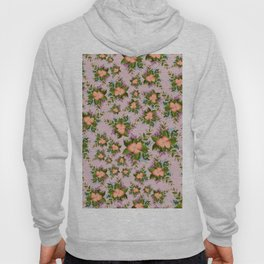 Watercolor Flowers on Mauve Background Hoody