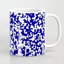 Small Spots - White and Dark Blue Coffee Mug