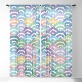 Scales-Multicolored Sheer Curtain