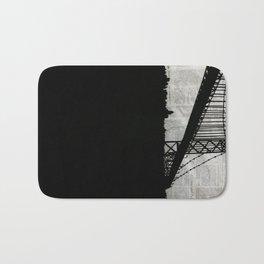 Paper City, Newspaper Bridge Collage Bath Mat