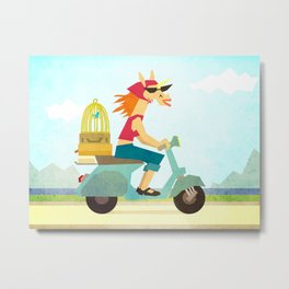Enjoy the Ride Unicorn Metal Print