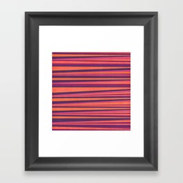 Happy Horizontal Lines Pink Version Framed Art Print