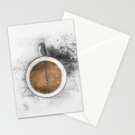 Coffee Heartbeat Stationery Cards