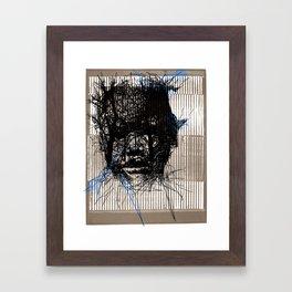 POLLOCK BOY Framed Art Print