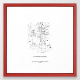 niki owl and the Gastown Steam Clock, Vancouver Framed Art Print