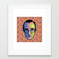 keith haring Framed Art Prints featuring Haring by guissëpi