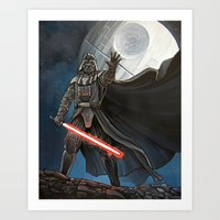 death star Art Prints featuring Death Star by Laura-A