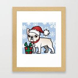 Cute French Bulldog Christmas Shirt Framed Art Print