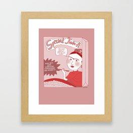 Frida Kahlo Cereals (English) Framed Art Print