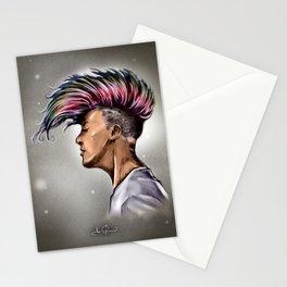 RGD Punk Rock Girl Portrait   Nikki the Bee Stationery Cards