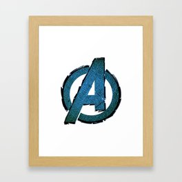 UNREAL PARTY 2012 AVENGERS LOGO FLYERS Framed Art Print