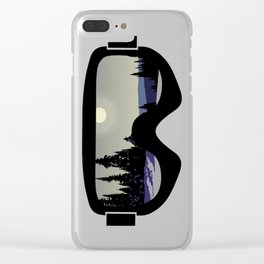 Morning Goggles Clear iPhone Case