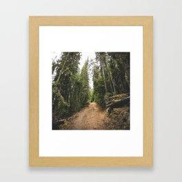 mountain climb  Framed Art Print