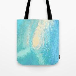 Exotic Ocean Wave Pop Art Pattern Tote Bag