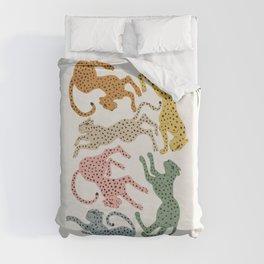 Rainbow Cheetah Duvet Cover