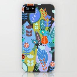 Midnight joyful inflorescence iPhone Case