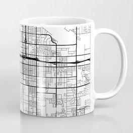 Fresno Map White Coffee Mug