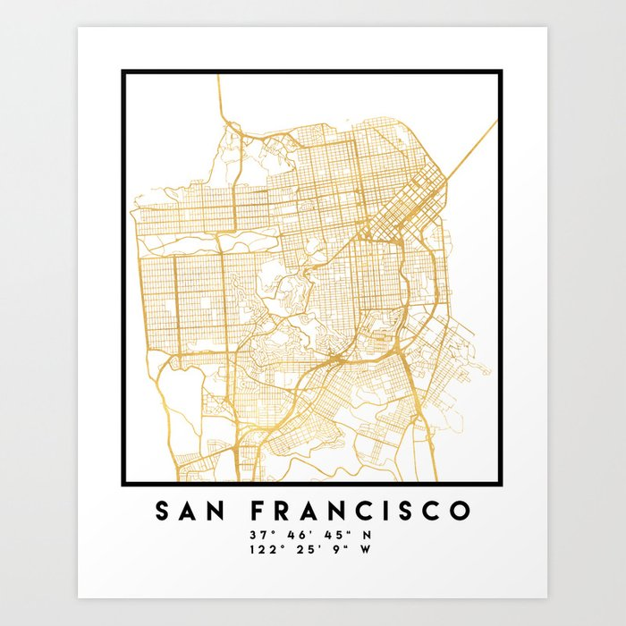 San Francisco Street Map Print on san francisco street parking map, san francisco attractions, san francisco haight-ashbury 60s, san francisco 1800s, venice street map print, london street map print, san francisco beaches swimming, key west street map print, san francisco cable car routes, san francisco 1915, san francisco street car map,