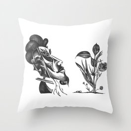 Mysterious Human Plant's Throw Pillow
