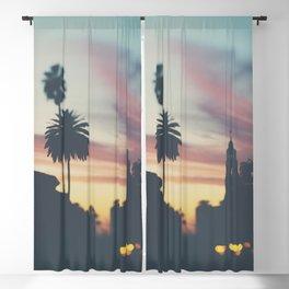 Sunset in Balboa Park print Blackout Curtain