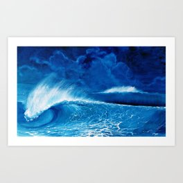 Pipeline in the night Art Print