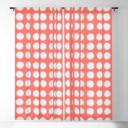 Milk Glass Polka Dots Living Coral Blackout Curtain