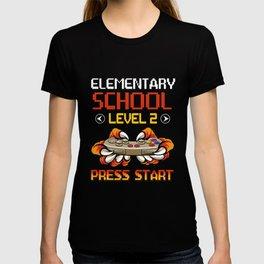 Elementary School Level 2 Press Start Back To School T-shirt