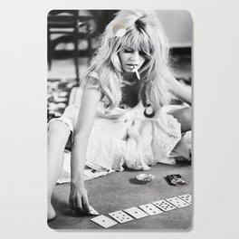 Brigitte Bardot Playing Cards, Black and White Photograph Cutting Board