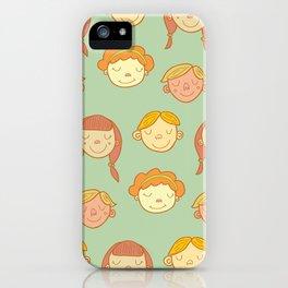 happy little faces. iPhone Case