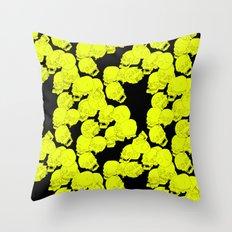 Neon Skulls Throw Pillow
