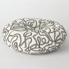 Squiggles - Black & White Floor Pillow
