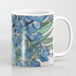 Punk van Gogh Irises Skull Coffee Mug