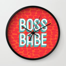 BOSS BABE Wall Clock