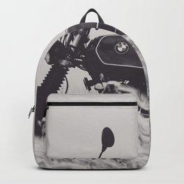 Scrambler photography, motorcycle lovers, motorbike, café racer, cafe racer, man cave gift Backpack