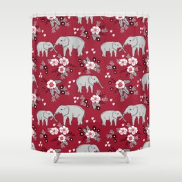 Alabama University Crimson Tide Elephant Pattern College Sports Alumni Gifts Shower Curtain