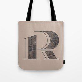 Typography series #R Tote Bag