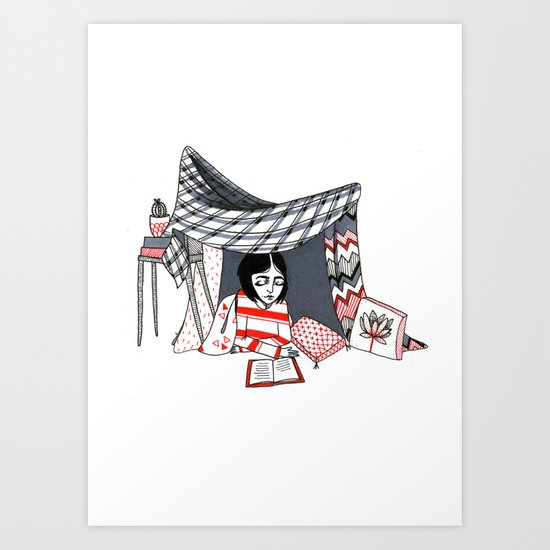 blanket fort Art Print