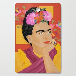 Frida - a colorful mind Cutting Board