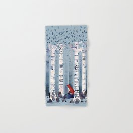 The Birches (in Blue) Hand & Bath Towel