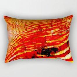 Deep Pixel Fire Rectangular Pillow