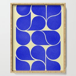 Blue mid-century shapes no8 Serving Tray