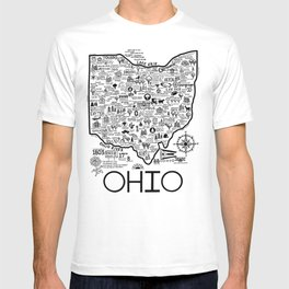 Ohio Map T-shirt