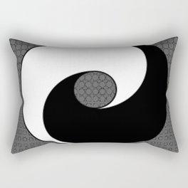 B&W YIN & YANG Taoism/Daoism ART Rectangular Pillow